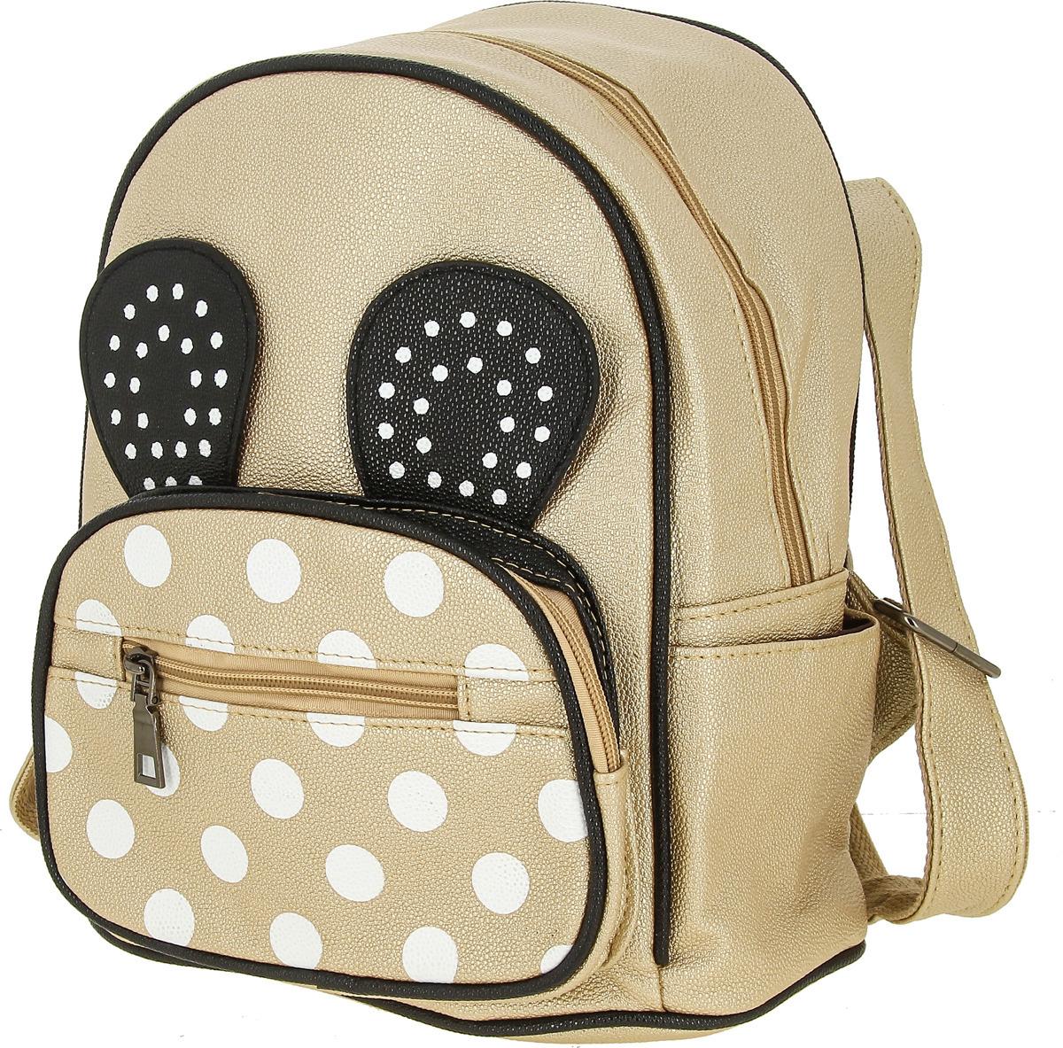 Рюкзак для девочки KENKA, PI_1702, золотой рюкзак kenka рюкзак