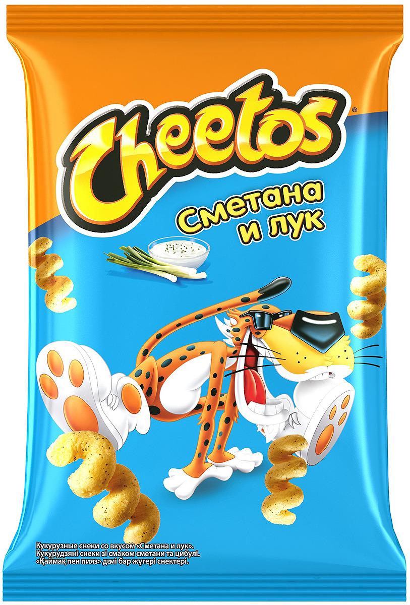 Чипсы Cheetos Сметана и лук кукурузные, 85 г чипсы bruto тапас сметана лук 75