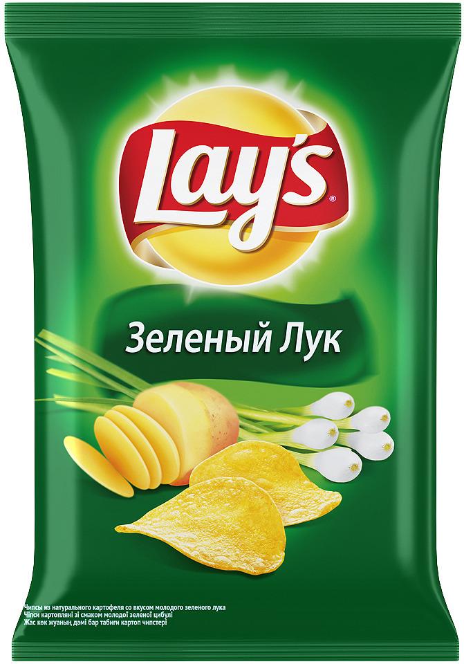Чипсы Lay's Молодой зеленый лук картофельные, 150 г чипсы картофельные русская картошка креветки 150 г
