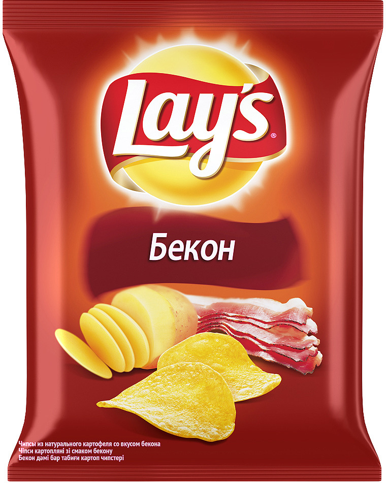 Чипсы Lay's Бекон картофельные, 80 г чипсы картофельные русская картошка креветки 50 г