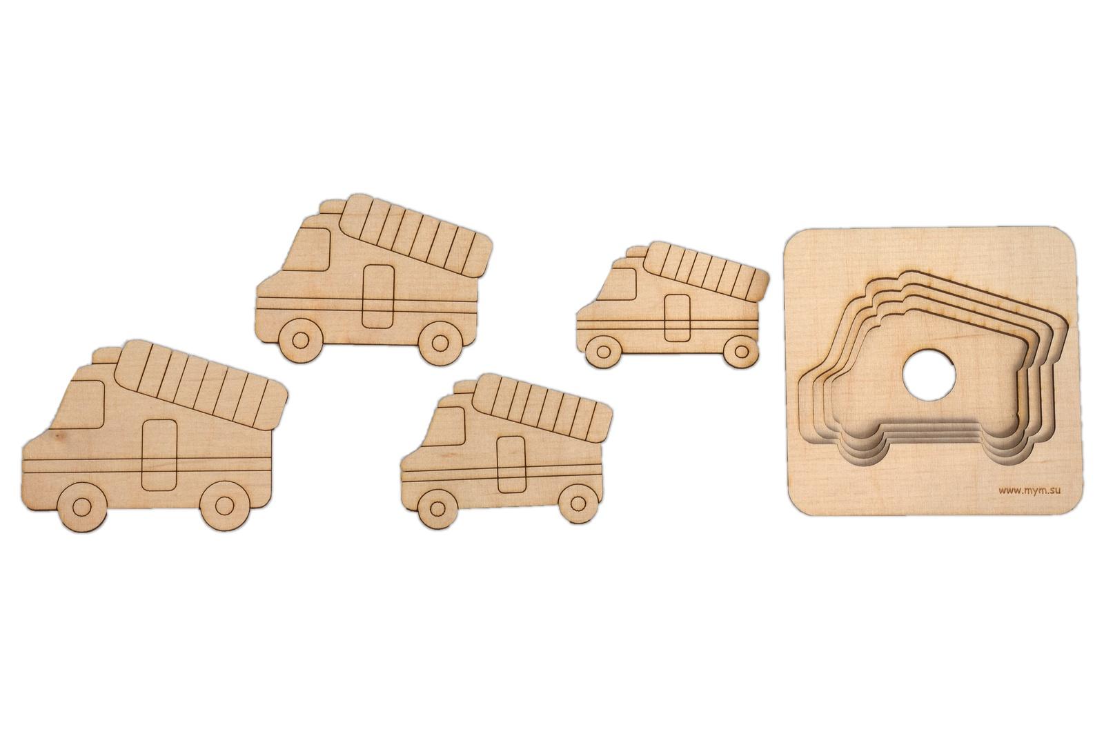 Игрушка-головоломка МУМ Пожарная Машина, ВТ2.4, дерево в благов пожарная машина книжка игрушка