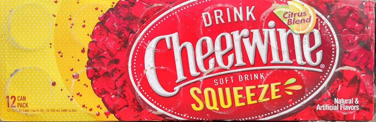 Газированный напиток Cheerwine Цитрус, 12 шт по 355 мл