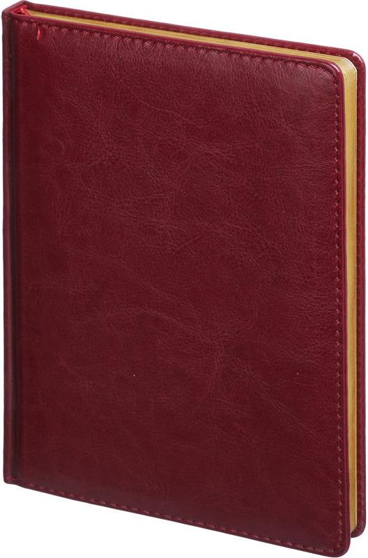 Ежедневник Attache Sidney Nebraska, недатированный, 136 листов, 313951, бордовый
