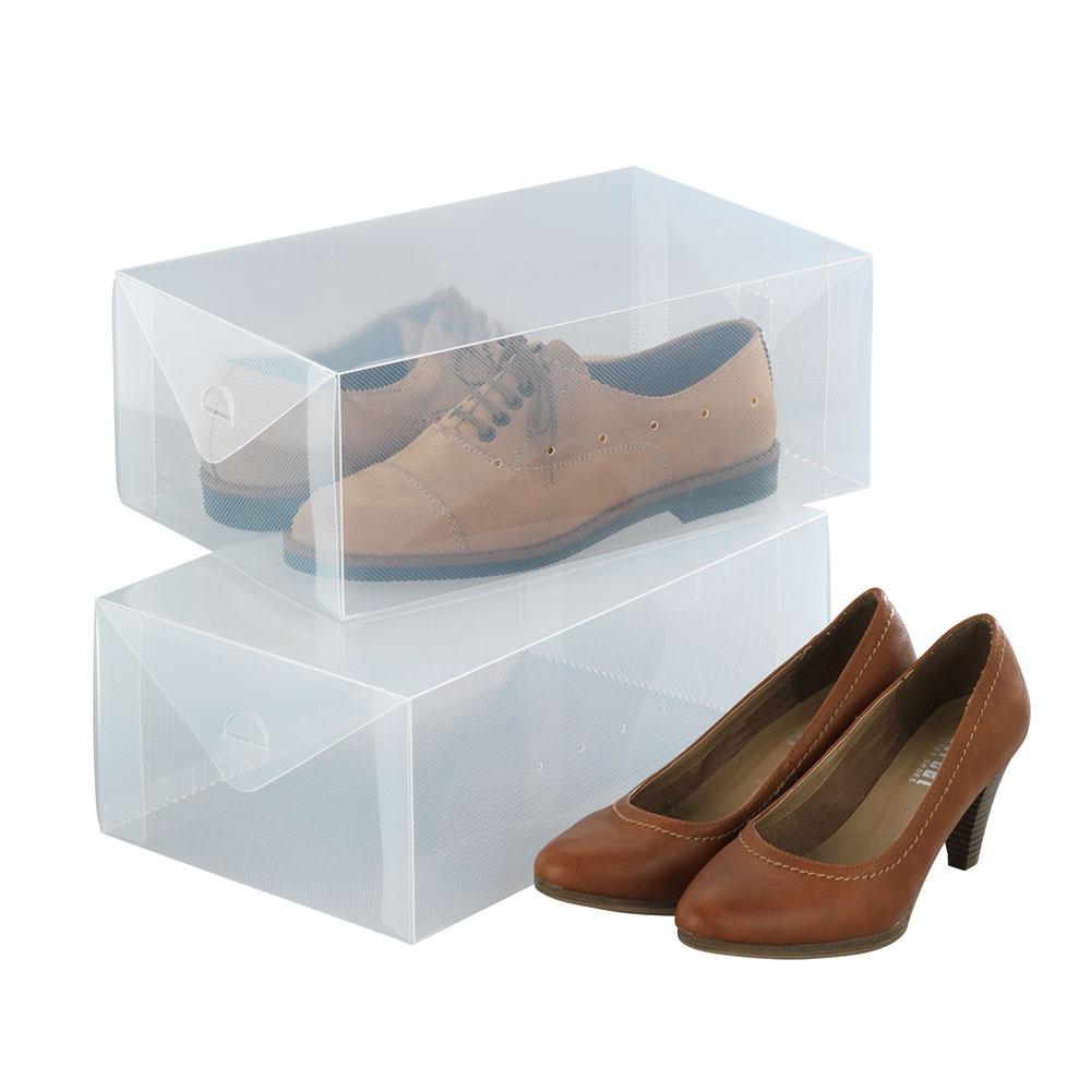 Бокс Хит-декор для хранения обуви, 05570, пластик, 2 шт комплект настенных часов хит декор для ванной комнаты 2 шт