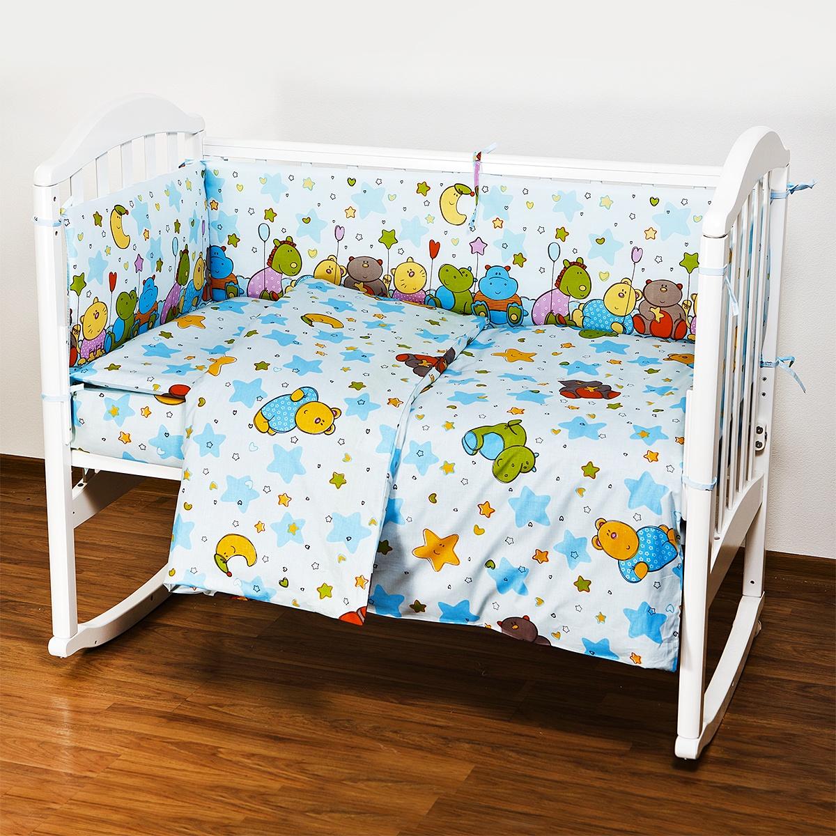 """Комплект в кроватку Споки Ноки """"Звездопад"""", H13/11BL, голубой, 6 предметов"""