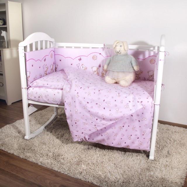 """Комплект в кроватку Споки Ноки """"Мишки"""", H13/17RO, розовый, 6 предметов"""
