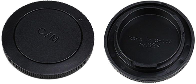 Крышка для объектива задняя + крышка байонета JJC для Canon EOS M, Black цена и фото