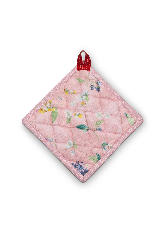Прихватка Pip Studio Hummingbirds Pink квадратная, 51.034.006, розовый, 20 см масленка pip studio hummingbirds pink