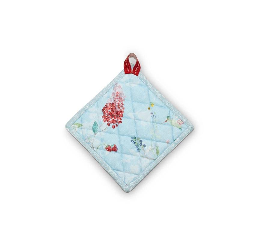 Прихватка Pip Studio Hummingbirds Blue квадратная, 51.034.008, голубой, 20 см масленка pip studio hummingbirds pink