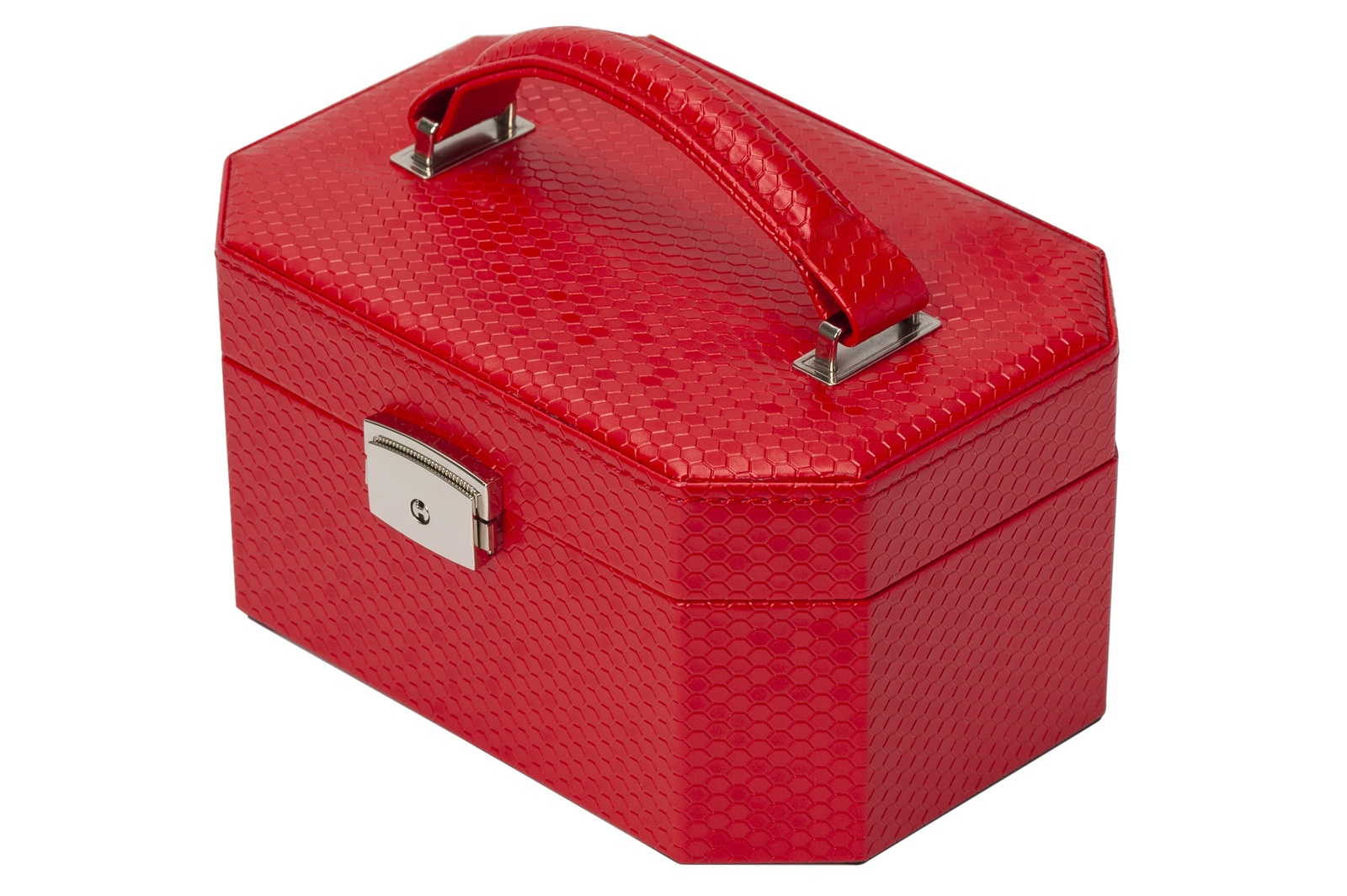 Шкатулка IsmatDecor из искусственной кожи, S-655-3, красный шкатулки ismatdecor шкатулка