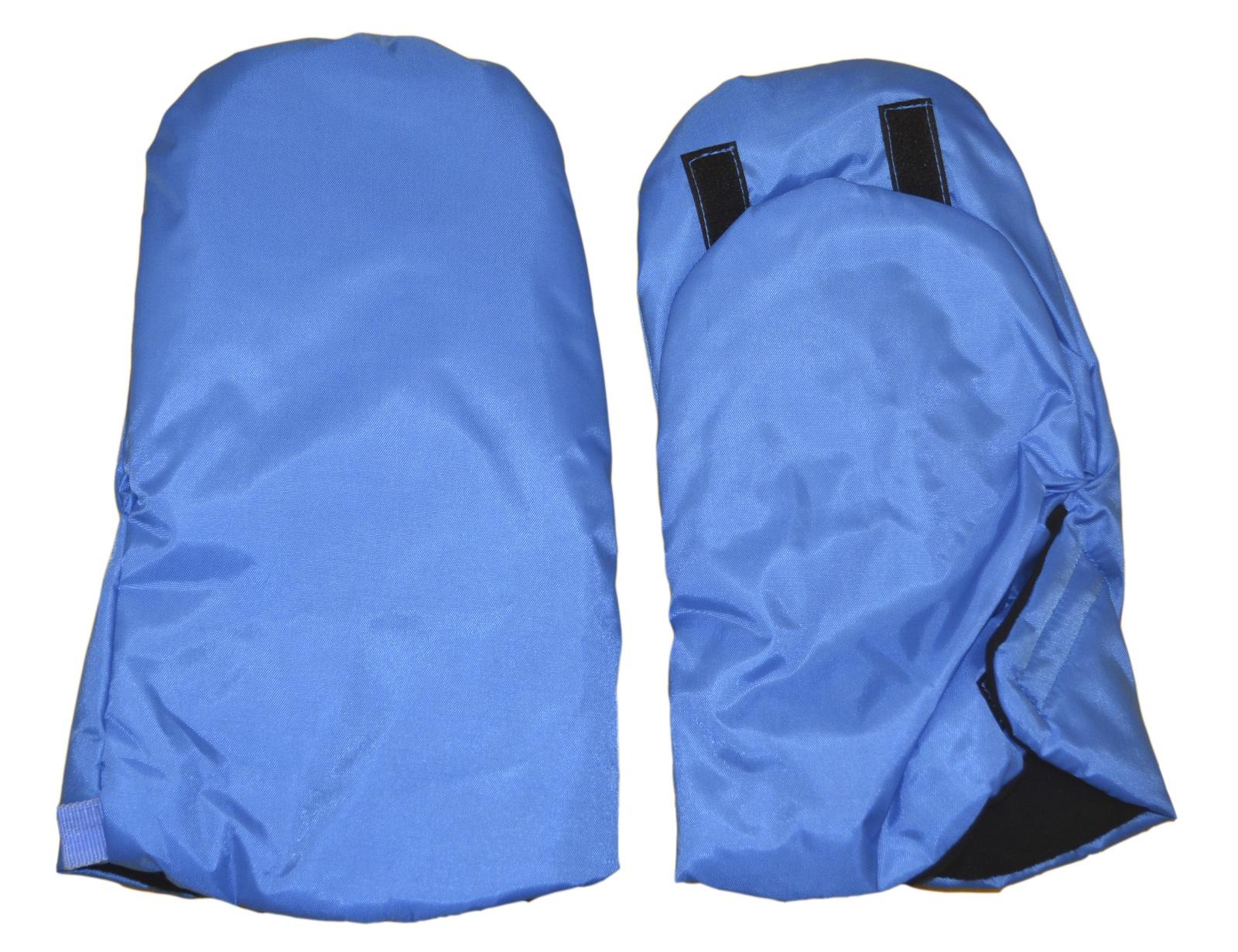 Варежки для коляски Мирти Зимушка, 2000064700012, голубой2000064700012Варежки для коляски на липучке.
