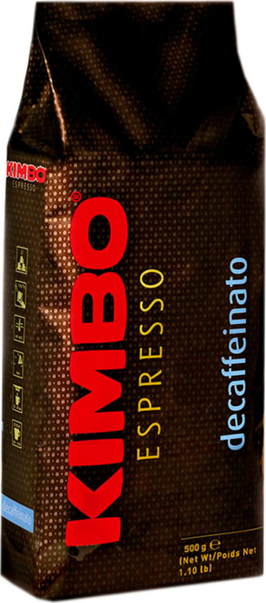 Кофе в зернах Kimbo Decaffeinato, 500 г кофе в зернах kimbo hotellerie gusto dolce