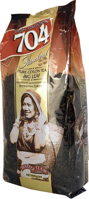 Чай Мастер Тим 704, черный, крупный лист, 800 г чай черный байховый бонтон крепкий цейлонский крупнолистовой 726 с ароматом бергамота 100 г