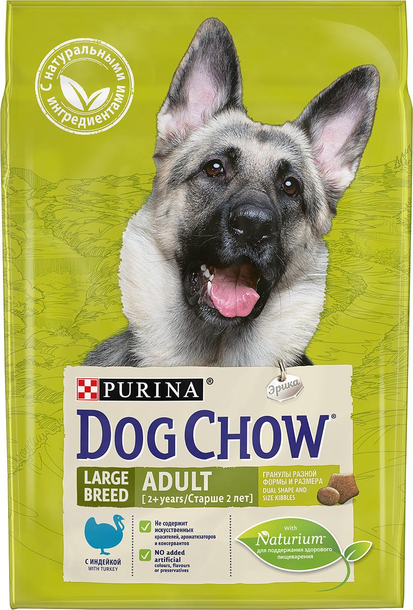 """Корм сухой Dog Chow """"Adult Large Breed"""" для взрослых собак крупных пород, с индейкой, 2,5 кг"""
