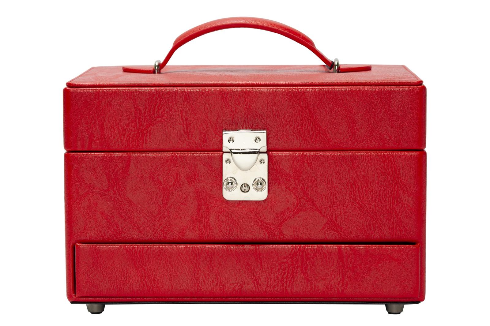 Шкатулка из искусственной кожи, S-999-3 красный шкатулки ismatdecor шкатулка
