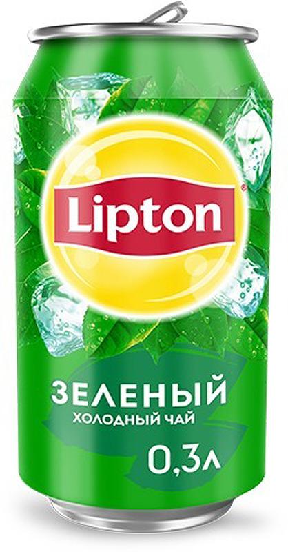Lipton Ice Tea Зеленый холодный чай, 0,33 л lipton yellow tea выбор 100 пакета