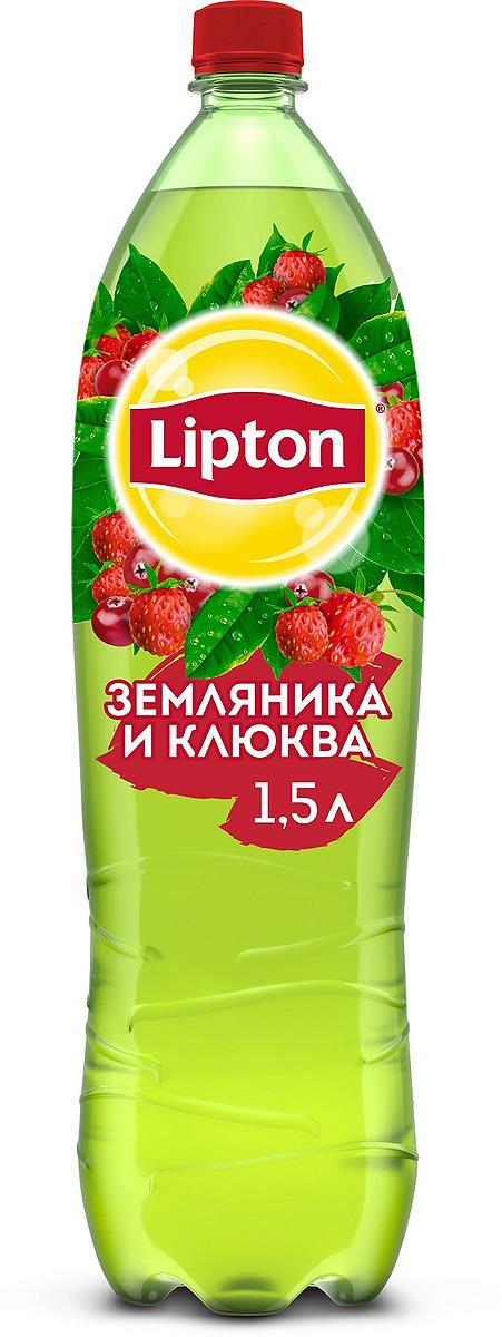 Lipton Ice Tea Земляника-Клюква холодный чай, 1,5 л lipton yellow tea выбор 100 пакета
