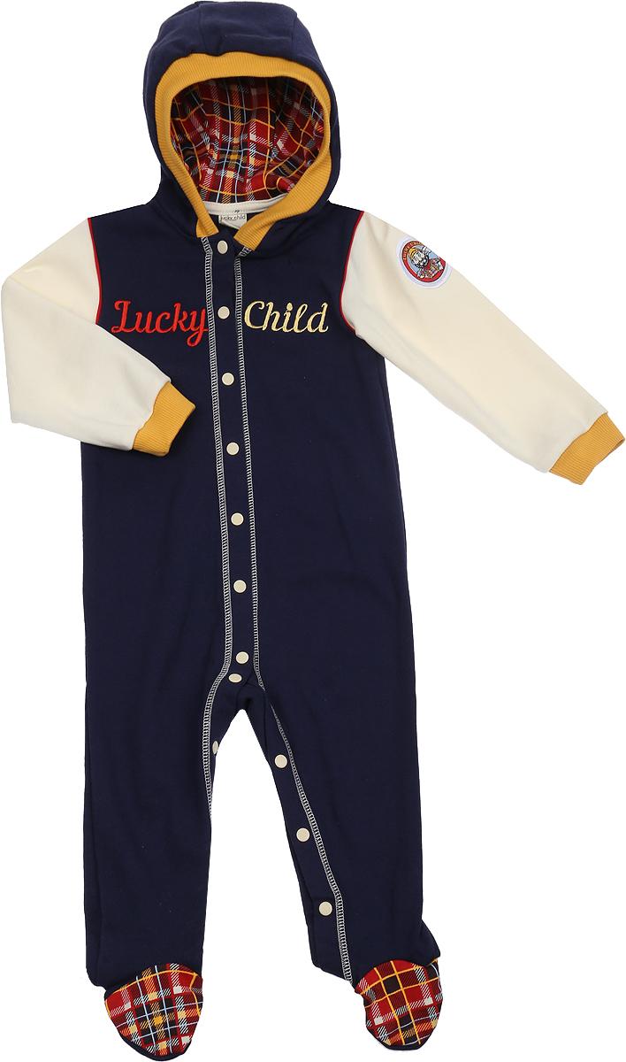 Комбинезон домашний Lucky Child комбинезон домашний для мальчика lucky child цвет голубой синий 32 16 размер 56 62