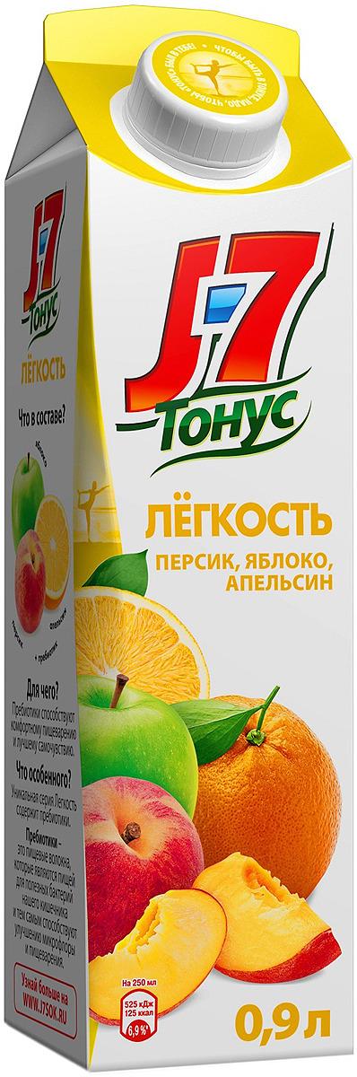 J-7 Тонус Апельсин-Яблоко-Персик нектар с мякотью 0,9 л