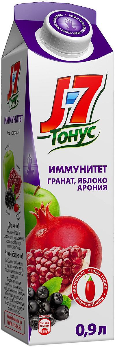 J-7 Тонус Яблоко-Гранат-Черноплодная рябина-Годжи нектар 0,9 л