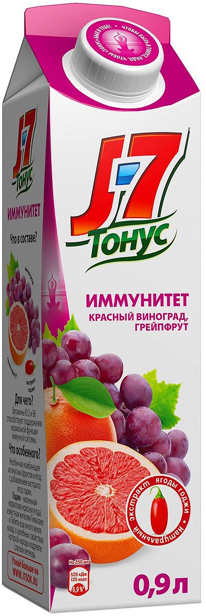 J-7 Тонус Грейпфрут-Виноград-Годжи нектар с мякотью 0,9 л