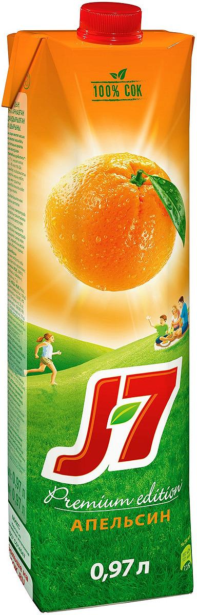 J-7 Апельсин сок с мякотью, 0,97 л