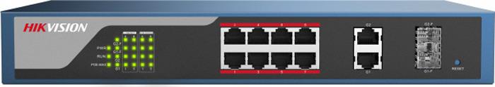 Коммутатор Hikvision DS-3E1310P-E, dark blue