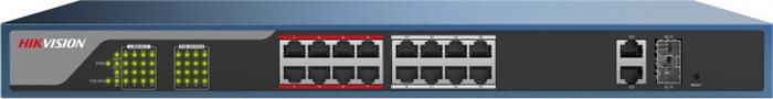 Коммутатор Hikvision DS-3E1318P-E, dark blue