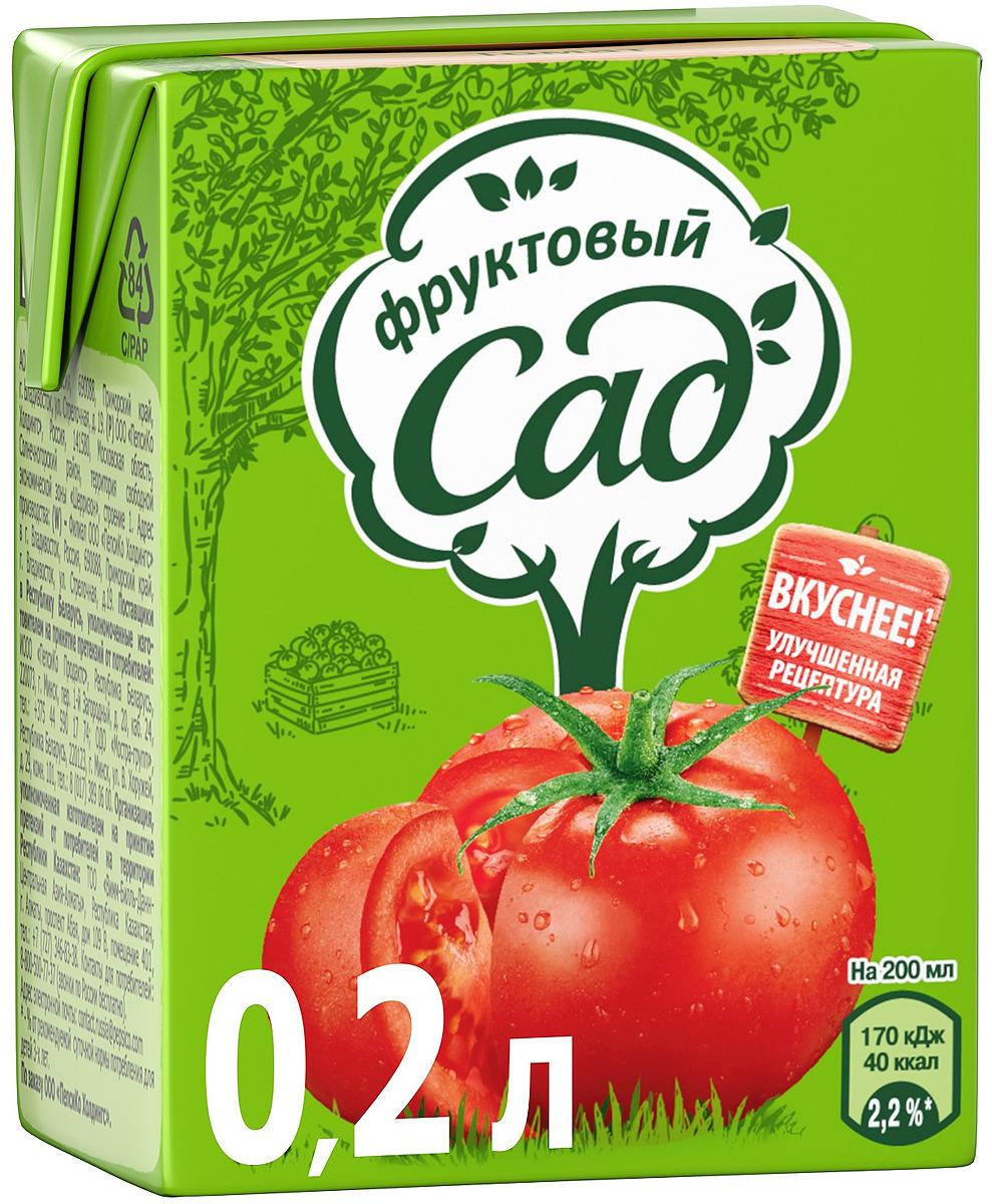 Фруктовый Сад Томат с солью с мякотью сок, 0,2 л
