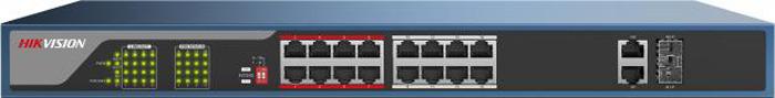 Коммутатор Hikvision DS-3E0318P-E, dark blue