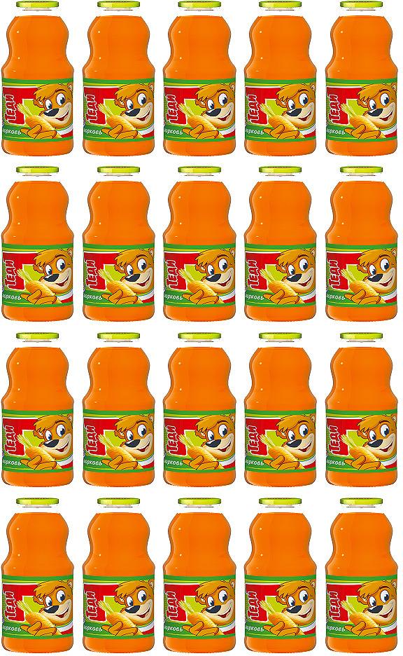 Нектар Теди Морковь, 20 шт по 300 мл02878000000101Нектар морковный. Обогащенный витамином С. Для детского питания с 3-х лет. С мякотью, гомогенизированный, пастеризованный, с повышенным содержанием провитамина А. Минимальная объемная доля пюре 43%.
