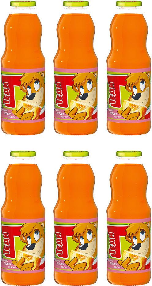 Нектар Теди Морковь, персик, яблоко, 9 шт по 750 мл миша нектар морковь яблоко 0 33 л