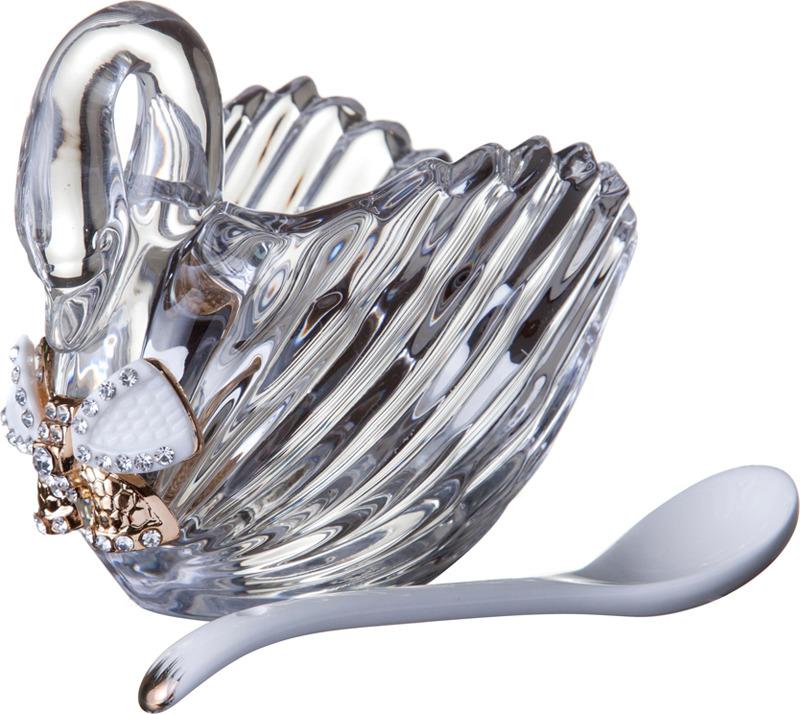Икорница Муза, с ложкой, 11,5 х 6,5 х 9,5 см банка для специй муза с ложкой 7 х 7 х 12 см