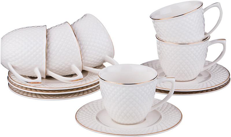 Набор посуды для кофе Lefard Диаманд Голд, 359-294, 90 мл, 12 предметов