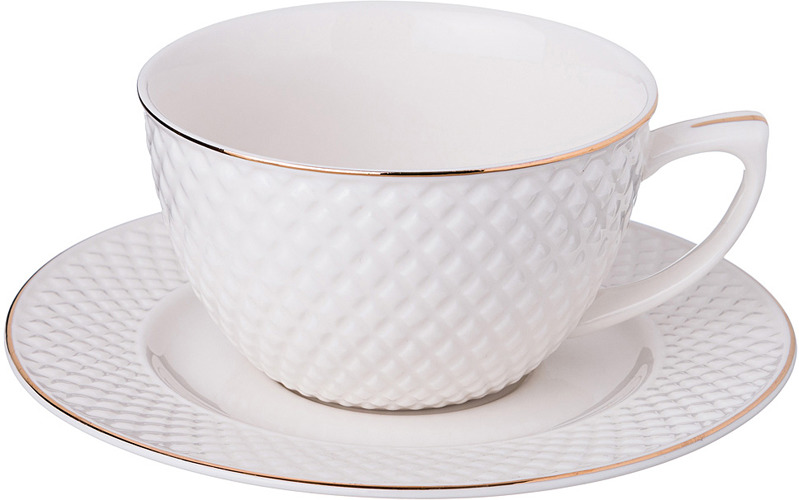 Набор чайный Lefard Диаманд Голд, 359-373, 220 мл, на 1 персону, 2 предмета