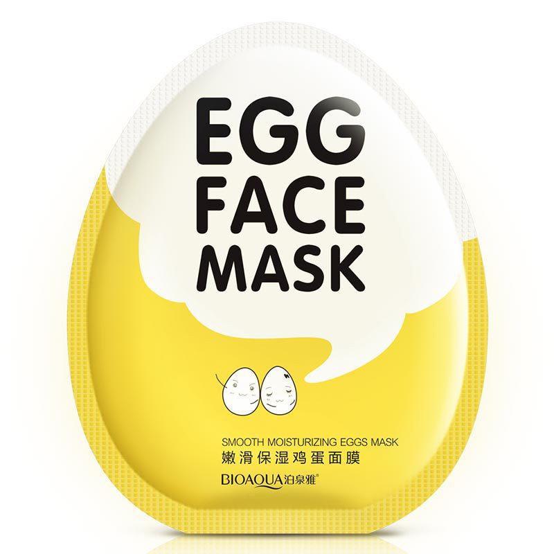 Bioaqua увлажняющая маска для лица с яичным желтком
