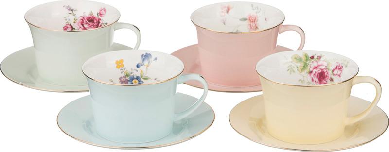 Набор чайный Lefard Времена года, 760-430, 250 мл, на 4 персоны, 8 предметов набор кружек lefard времена года 400 мл 4 предмета разноцветный