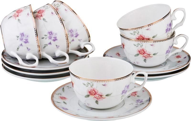 Набор чайный Lefard Пасадена, 760-534, 250 мл, на 6 персон, 12 предметов набор чайный lefard времена года 760 430 250 мл на 4 персоны 8 предметов