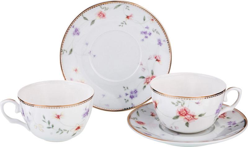 Набор чайный Lefard Пасадена, 760-536, 250 мл, на 2 персоны, 4 предмета набор чайный lefard времена года 760 430 250 мл на 4 персоны 8 предметов