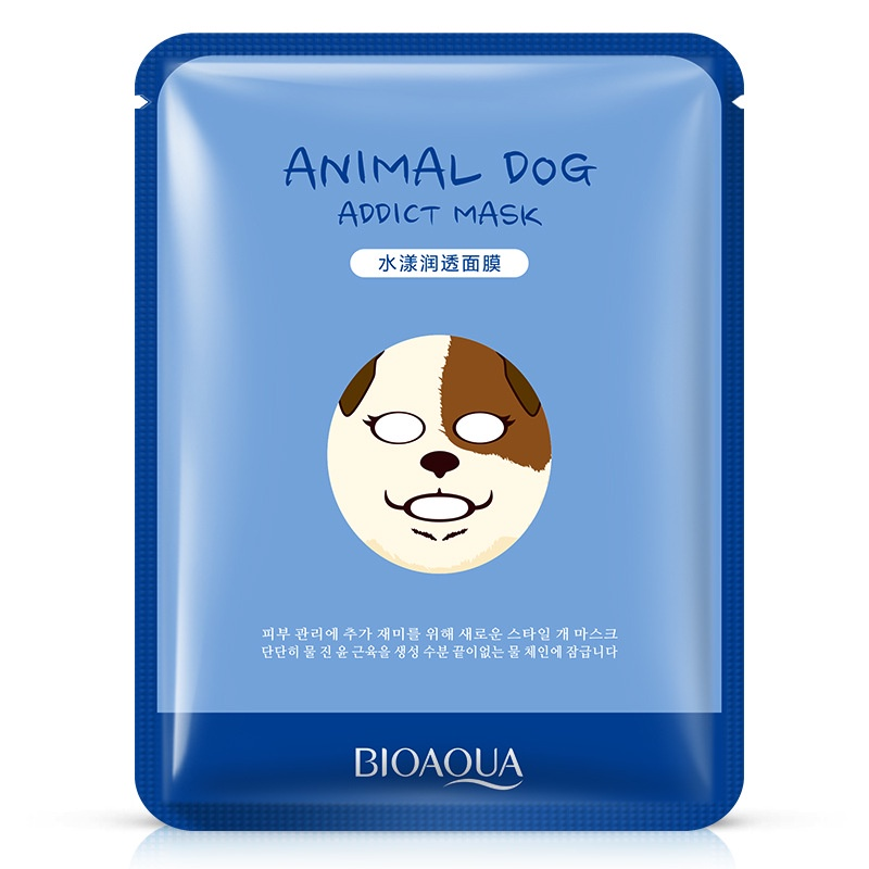 """Маска косметическая BIOAQUA маска для лица """"Собачка"""", 30 гр."""