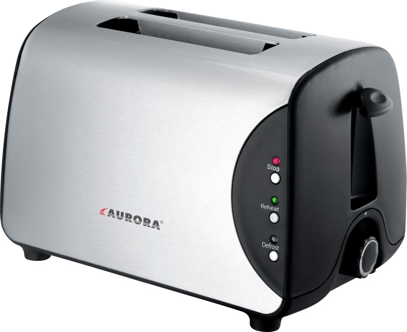 Тостер AURORA AU3323, серебристый, черный