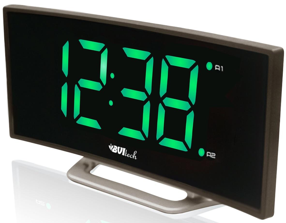 Электронные часы BVItech, BV-412GKS, с будильникомBV-412GKSКачественные электронные часы с будильником, с функцией Snooze, которая позволяет отложить сигнал от 5 до 60 минут. Управление простое и интуитивно понятное, кнопки для настройки устройства расположены на верхней поверхности часов. Есть возможность выбора яркости дисплея - ярко или тускло. Цифры крупные, видно издалека и под любым углом.