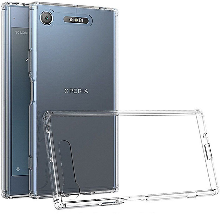 Чехол защитный Gosso Cases для Sony Xperia XZ1 ClearView, 180565, прозрачный