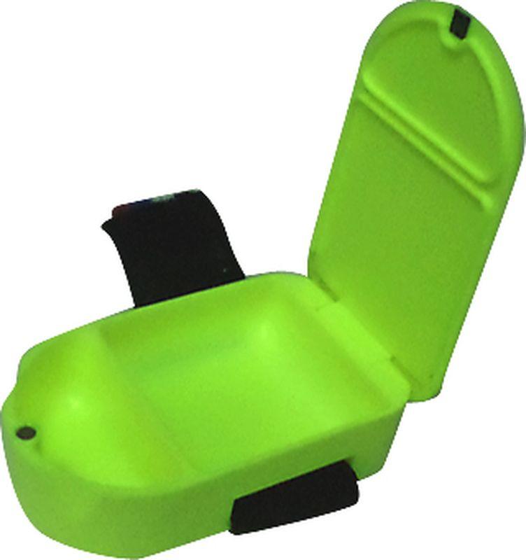 Коробка-мотыльница Пронтекс, двухсекционная, с магнитом, цвет: зеленый, 90 х 55 х 20 мм