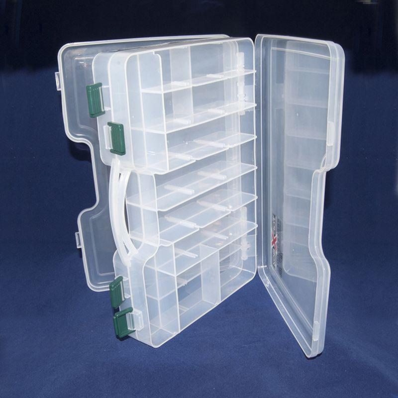 Коробка Top Box TB- 3800, цвет: прозрачный, 30 х 22 х 6 cм