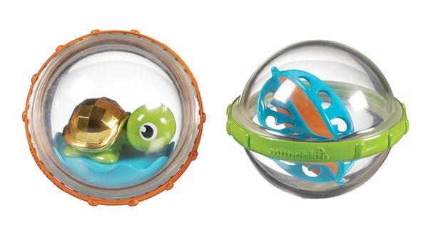 Munchkin игрушка для ванны Пузыри-поплавки черепашка 2 шт.3+ babymoov игрушка для ванны 104919 6 шт
