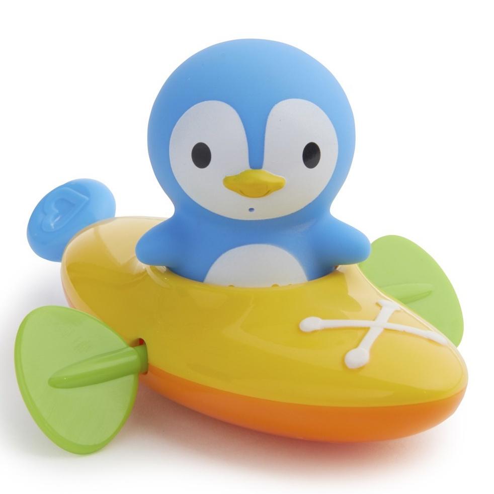 Munchkin игрушка для ванны пингвин в жёлтой лодке 18+