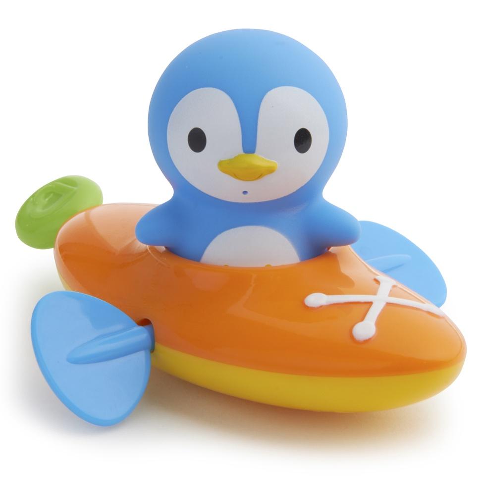 Munchkin игрушка для ванны пингвин в оранжевой лодке 18+