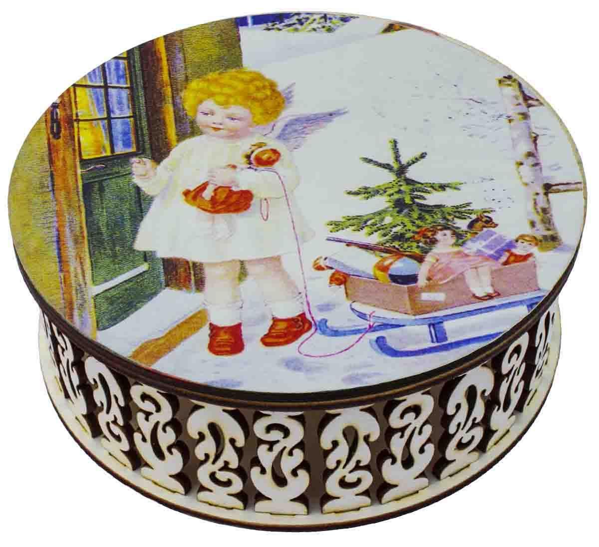 Конфеты в резной деревянной шкатулке Кремлина Ангел чернослив шоколадный, 400 г кремлина гагарин ю а чернослив шоколадный с грецким орехом конфеты 150 г