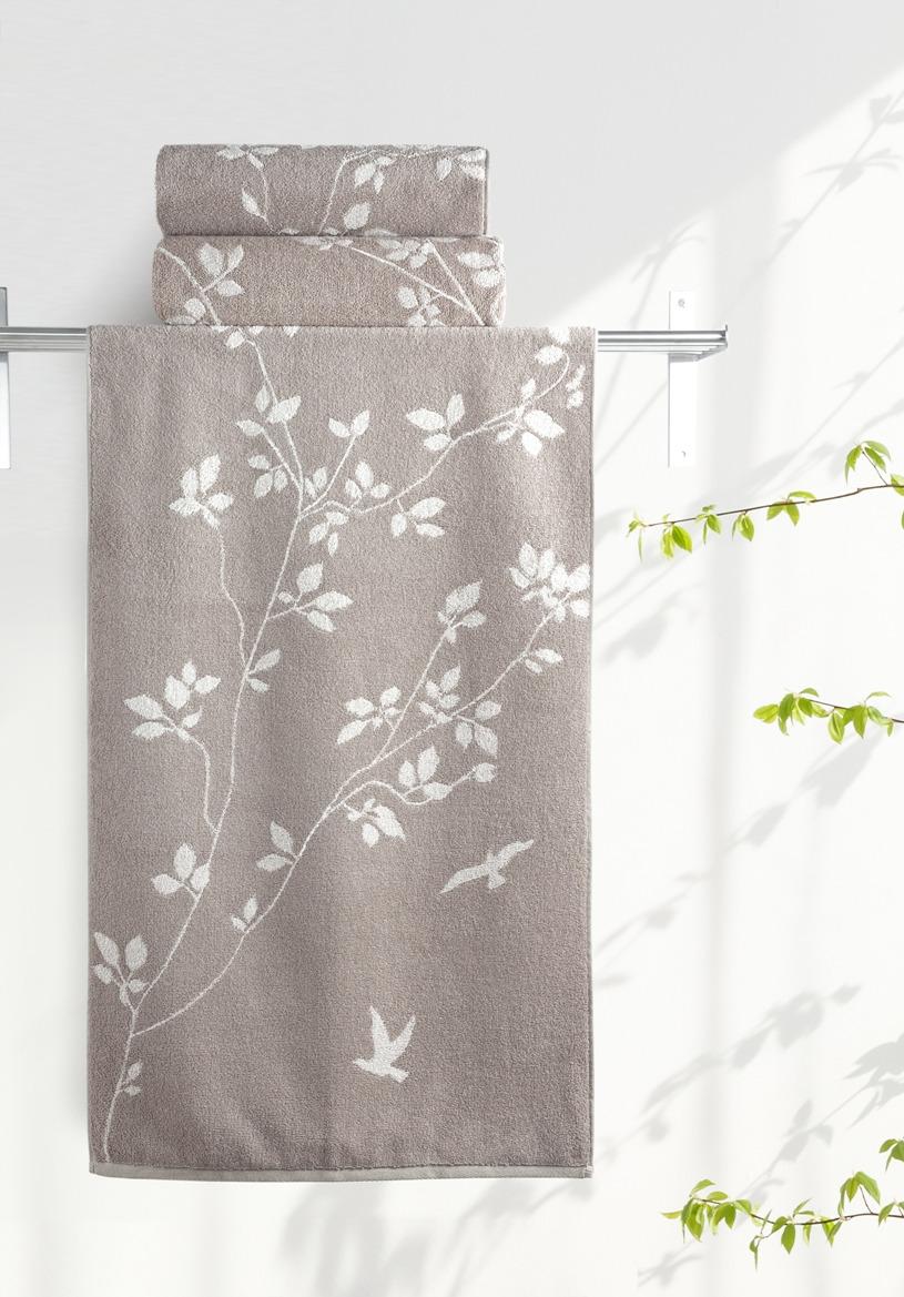 Полотенце Aquarelle Форест 2, цвет: мокко, бежевый, 50 х 90 см полотенце махровое aquarelle борнео вид 1 цвет мокко белый